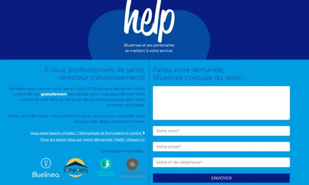 Covid-19 : Help ! L'initiative de Bluelinea