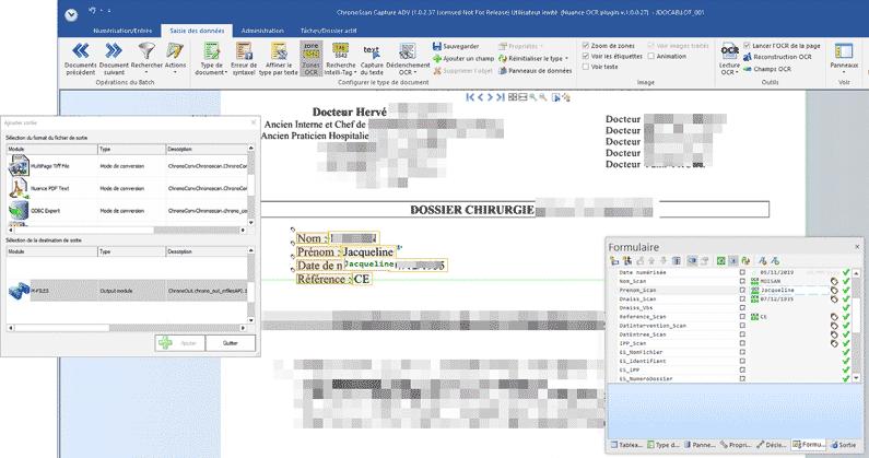L'utilitaire OCR ChronoScan permet de lire les éléments du document (compte-rendu, facture, contrat, etc.) pour intégrer automatiquement les informations sous forme de métadonnées dans M-Files. C'est sur la base de ce socle que maya consulting (intégrateur M-Files) propose des solutions de transfert de comptes-rendus vers différents DPI ou la récupération automatique des informations de facture pour intégration au progiciel de gestion comptable.