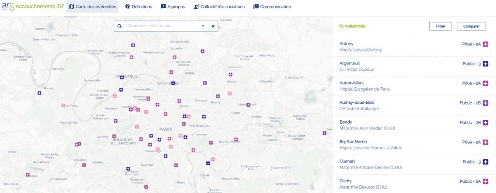 Le site accouchements.sante-idf.fr a été réalisé en mode « Agile » par les équipes du GIP SESAN sur la base de technologies open source. Depuis son ouverture le 16 juin, près de 25 000 visites ont été enregistrées. Il est attendu en moyenne une centaine de connexions par jour.